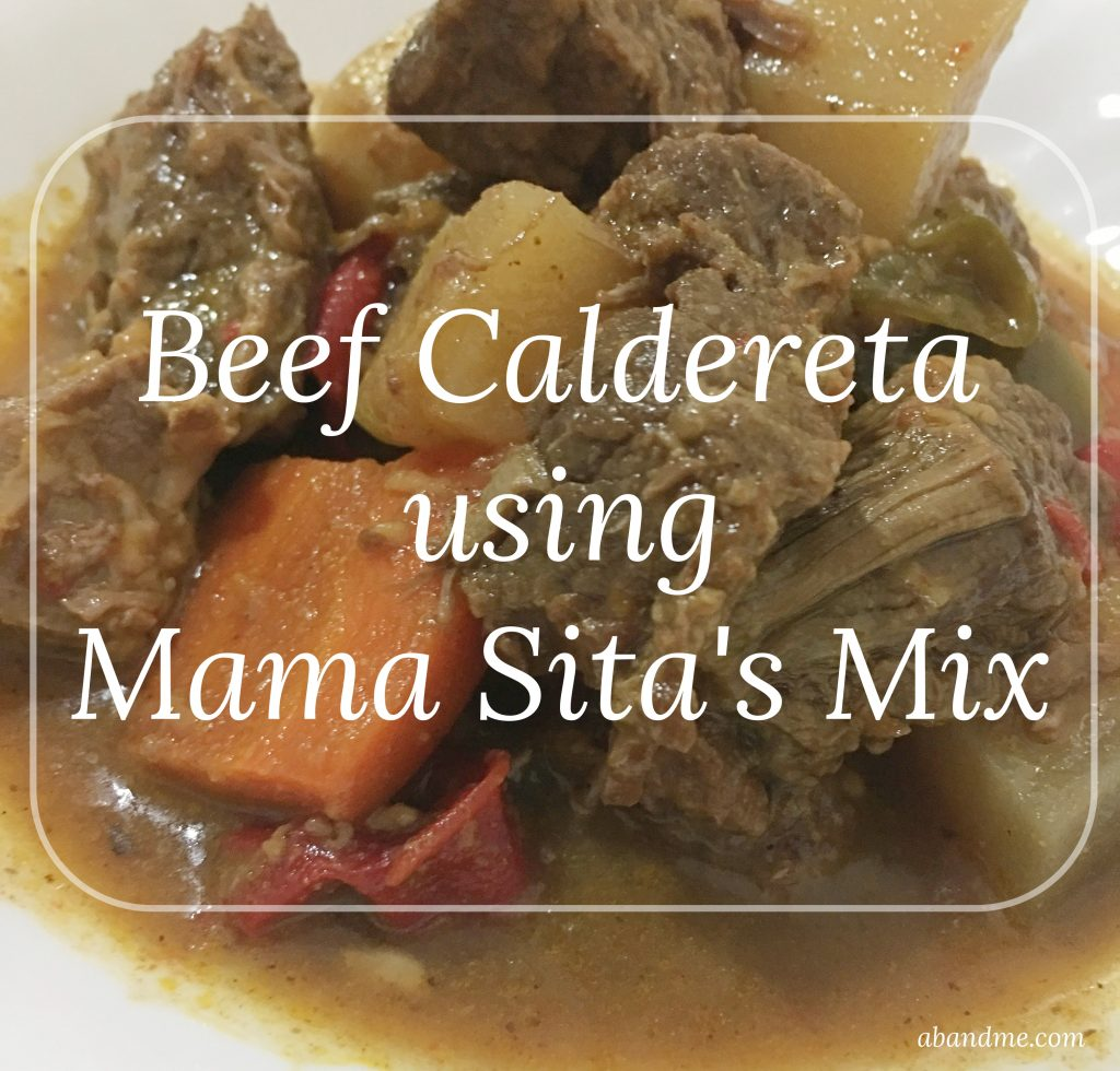 Beef Caldereta using Mama Sita's Mix